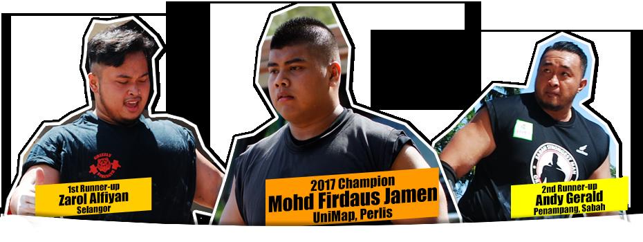 Top 3 Orang Kuat Sabah 2017